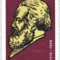 Marx aláírása német bélyegen