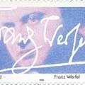Német bélyeg Franz Werfel emlékére az aláírásával