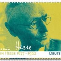 Hermann Hesse arcképes és aláírásos portréja