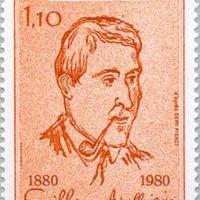 Apollinaire kézjegye egy kisállam bélyegén
