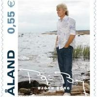Björn Borg aláírása a kis balti szigetállam bélyegén