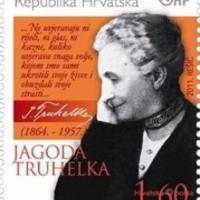 A horvát gyermekíró Jagoda Truhelka aláírása