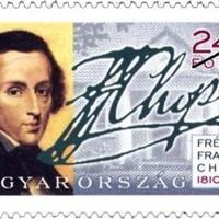 Chopin aláírása magyar bélyegen