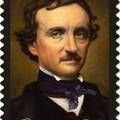 Poe aláírása arany betűkkel az emlékbélyegen