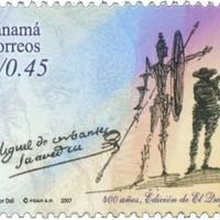 Cervantes aláírása és Dalí rajza