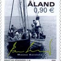 Mauno Koivisto bélyege aláírásával és hajójával