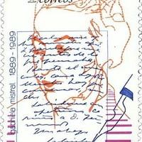 A chilei költőnő, Gabriela Mistral keze nyoma