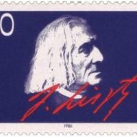 Liszt Ferenc aláírása német bélyegen