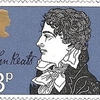 Keats kézjegye brit bélyegen