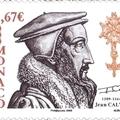 Kálvin kézjegye monacói bélyegen