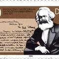 Marx kézirata német bélyegen