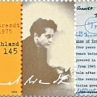 Hannah Arendt aláírása német emlékbélyegén