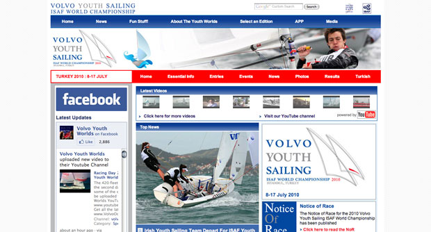 Volvo ISAF Youth Worlds Web