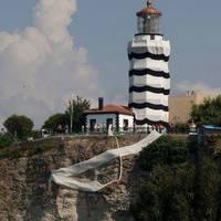 A csíkos ruhás Isztambul-i világítótorony!