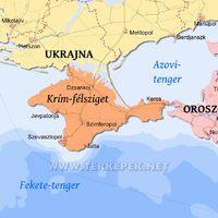 Jelenés a  krími félsziget felett