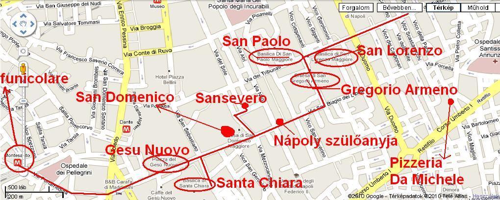 nápoly látnivalók térkép 5. nap   Nápoly   Olaszország 2010 nápoly látnivalók térkép