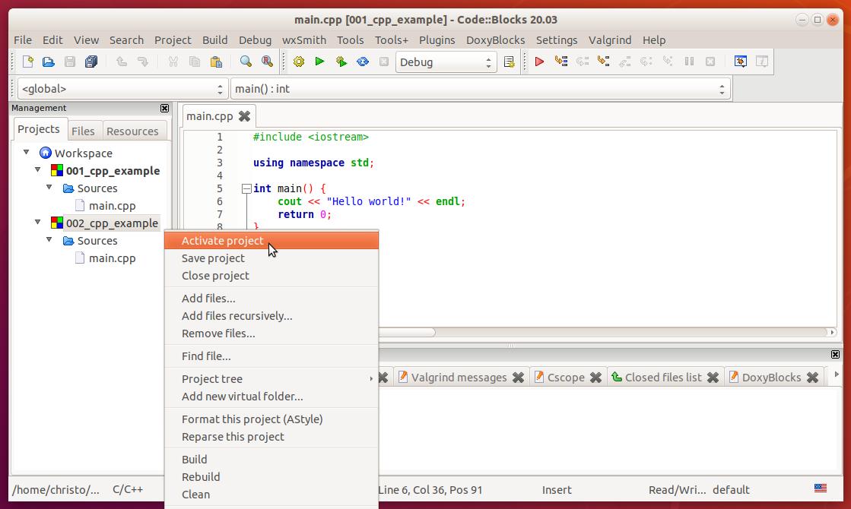 codeblocks_activate_project.png