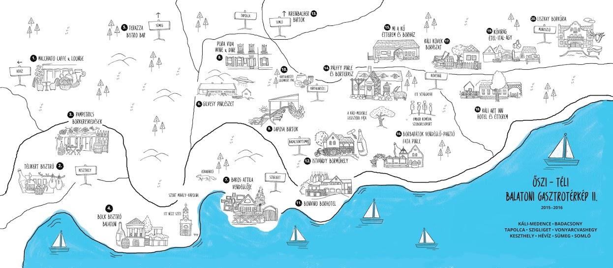 balaton szigliget térkép Őszi téli gasztronómiai térkép a Balatonról II.   Itthon a Balatonon balaton szigliget térkép