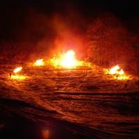 Óbányai tüzeskerék gurítás