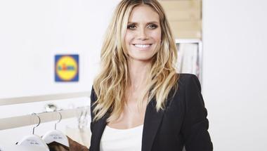 Egy meghökkentő együttműködés: Heidi Klum a Lidl-ben fogja árulni kollekcióját