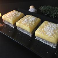 Mákos kockák lemon curddal és kókusszal