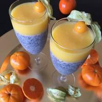 Mákos-mandarinos pohárdesszert