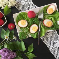 Húsvéti színes főtt tojás