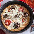 Gombás-paradicsomos clafoutis, a tökéletes pizzapótló