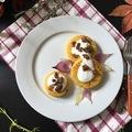 Polenta libatepertővel és karamellizált lilahagymával