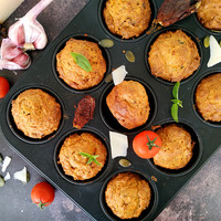 Tökmagos - aszalt paradicsomos pestos muffin