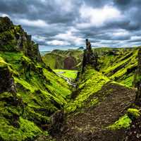 Þakgil  - a felföldi csoda az 1-es út mentén (Kerlingardalsvegur)