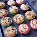 Csokis meggyes muffin zabpehelyliszttel