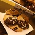 Aszalt gyümölcsös csokis mogyorós kekszek
