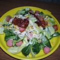 Virslis - baconos saláta