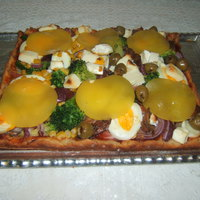 Húsos-Zöldséges pizza