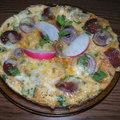 Kolbászos sajtos omlett reggelire