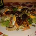Csirkemájas saláta laktózmentes öntettel