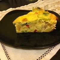 Zöldséges - húsos omlett