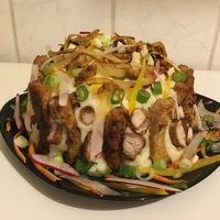 Hús torta juhtúrós burgonyakrémmel