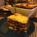 Vörösboros-gombás karácsonyi lasagne
