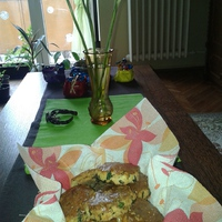 Gluténmentes Medvehagymás pogácsa