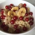 Banános - ribizlis zabkása glutén - és laktózmentesen