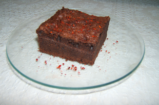 "Chilis ""hamis"" brownie"