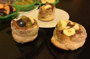 Nutellás - Gyümölcsös Gluténmentes kürtőskalács