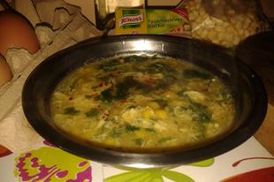 Kínai tojásos kukorica leves