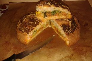 Töltött kenyércipó