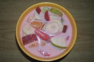 Gyümölcs leves főzés nélkül