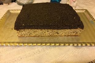Extra mákos -rumos szelet glutén-laktóz és cukormentesen