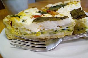Cukkinis-mascarpones quiche, avagy francia pite