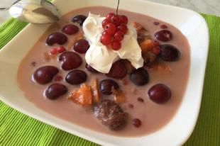Főzés nélküli vegyes gyümölcsleves glutén és laktózmentesen